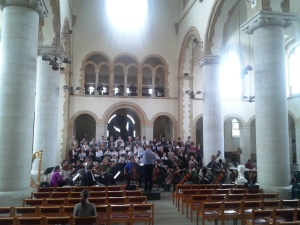 Choir and Orchestra rehearsing in Portsmouth