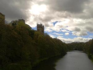 The imposing Durham Cathedral dominates the town's skyline