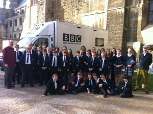 Ely Cathedral choristers with our Principal Conductor Stephen Layton and composer Gabriel Jackson