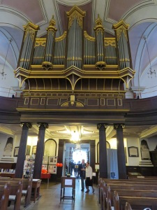 The organ at Derby Cathedral