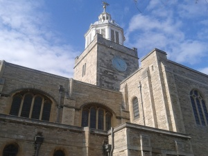 The bijou Portsmouth Cathedral, the smallest of our Tour venues