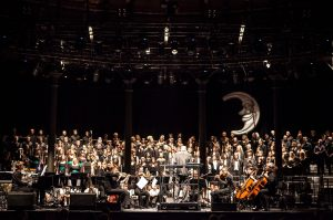 The Orchestra perform with our Principal Conductor, Stephen Layton, at Voices Now Festival, Roundhouse.