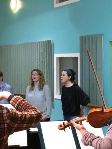 Mara & Elin rehearse