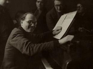 Composer Oliver Messiaen at Piano