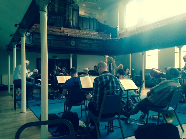 rehearsal with Steuart Bedford at Amadeus centre