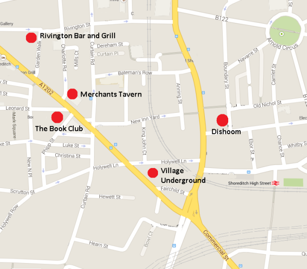 Shoreditch map