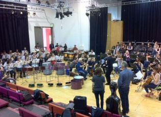 Final rehearsals for Luton, July 2015