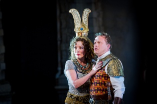 Aida - Giuseppe Verdi - Opera Holland Park - 24th June 2015 Conductor - Manlio Benzi Director - Daniel Slater Designer - Robert Innes Hopkins Lighting Designer - Tim Mascall Movement Director - Maxine Braham Aida - Gweneth-Ann Jeffers Radames - Peter Auty Amneris - Heather Shipp Ramfis - Graeme Broadbent Amonasro - Jonathan Veira A Messenger - Peter Davoren A Priestess - Emily Blanch