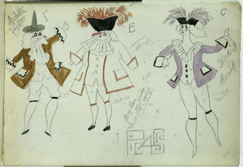 Costumes by Pablo Picasso from the 1920 production of Pulcinella