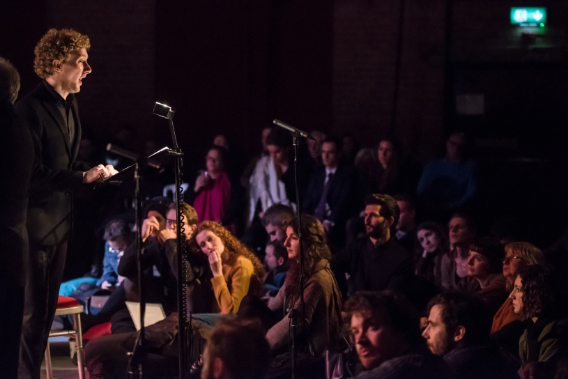 Gwilym Bowen performs Mahler's Das Lied von der Erde to a rapt audience at CLoSer: Song of the Earth, 17 February 2016. Credit: James Berry