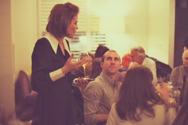 Amelia Singer at a Wine Tasting Event