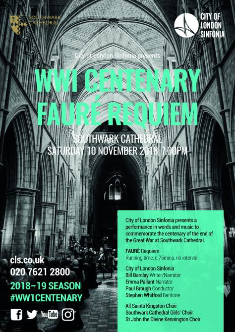 WWI Centenary Faure Requiem