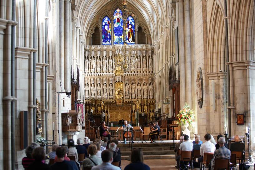 String trio at Southwark Cathedral